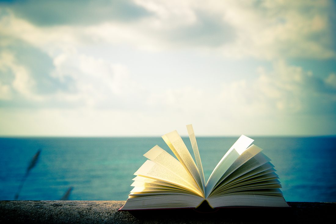 Open book by the sea editing proofreading