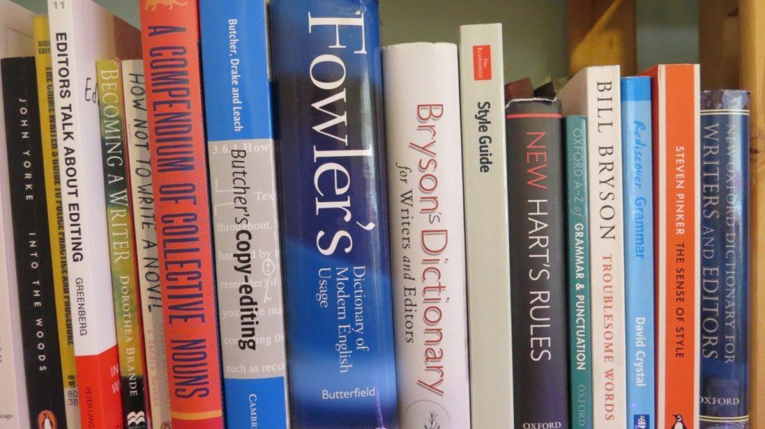 Books on a shelf, by Jane Hammett